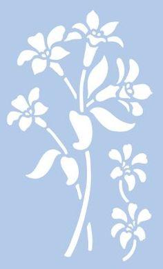 """Große Schablone """"Blume"""" € 7,50"""