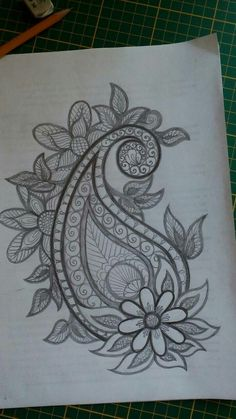 Almeena's media statistics and analytics Hand Embroidery Designs, Beaded Embroidery, Embroidery Stitches, Embroidery Patterns, Machine Embroidery, Mehndi Art Designs, Beautiful Rangoli Designs, Pencil Design, Henna Patterns