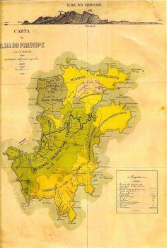 Mapa da Ilha do Príncipe