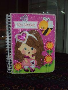 cuaderno forrado