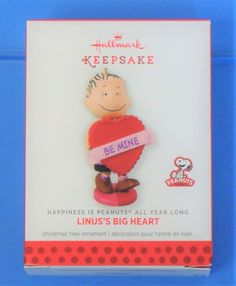 New Hallmark Peanuts Linus's Big Heart on Mercari Big Christmas Tree, Christmas Tree Ornaments, Number 7, Hallmark Christmas, Valentines Day Hearts, Peanuts, Happiness, Ship, Ink