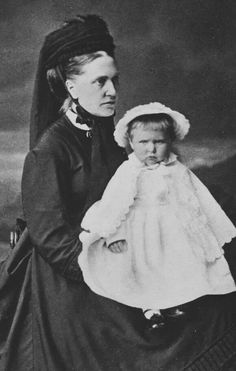 Princess Alix of Hesse (Darmstadt) and by Rhine ~ the future Empress Alexandra Feodorovna of Russia with her nurse.A♥W