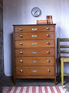 Vintage Mid Century Haberdashery Or Collector S Style Tallboy Chest Of Drawers