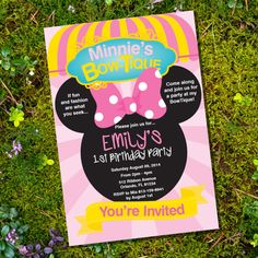 Minnie Mouse Bowtique Inspired Party Invitation by SunshineParties, $5.00