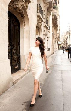 Rocking the white dress.