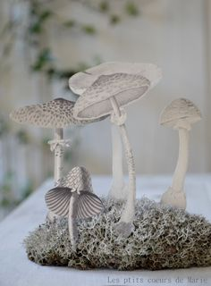 Too awesome....paper mushroom sculpture