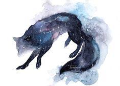 Galaxy Wolf by ThreeLeaves on DeviantArt