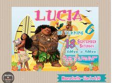 Tropical Moana Printable Birthday Party Invitation