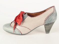 Love these coral and robin egg blue school girl shoes