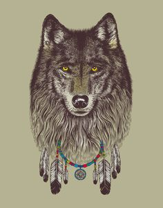 This would be a badass wolf tattoo
