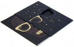 black and gold foil stamp die cut sunglasses invitation
