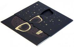 black and gold foil stamp die cut sunglasses invitation