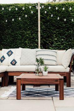 stilvolle ikea pplar gartenm bel mit modernen kissen und polsterm beln balkon in 2018. Black Bedroom Furniture Sets. Home Design Ideas