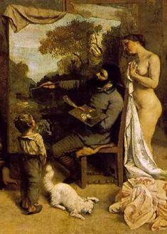"Gustave Courbet, ""The Artist's Studio"" (1854), Musee d'Orsay, Paris.   See the best #Art installations in New York at www.artexperience..."