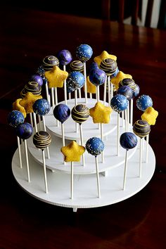 Outer Space & Star Cake Pops