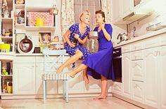Girl retro fun by alexandra sandu, via Behance