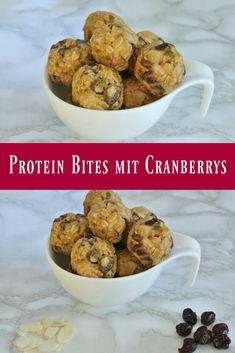 Protein Bites mit Cranberrys