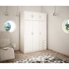 Skříň Wiktoria 6D3SZ Bílá - SIGNAL nábytek Tall Cabinet Storage, Furniture, Home Decor, Divider, Entryway, Design, Room, Entrance, Bedroom