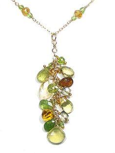 Golden Grass Necklace