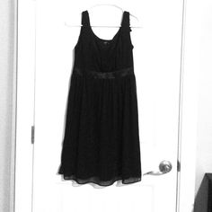 Little Black Dress Worn once for a wedding. It's black and comes to above my knee (I'm 5'3). Flowy and lovely. *Don't forget to bundle and save money* Jump Apparel Dresses Midi