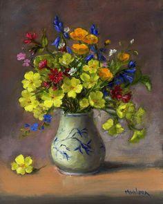 Oil Painting/ Marjorie Wilson/ Floral Still Life-  An Easter Bouquet