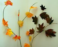 How to Make Fall Leaves with Paint, Paper and Pastel