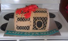 Lobster trap cake make for my Father in Law (a lobster fisherman's) 60th Birthday!