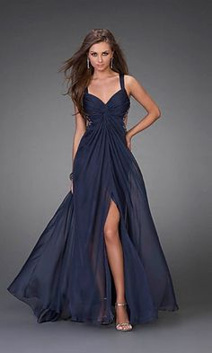 Shop long formal dresses and formal evening gowns at Simply Dresses. Women's formal dresses, long evening gowns, floor-length affordable evening dresses, and special-occasion formal dresses. Navy Blue Prom Dresses, A Line Prom Dresses, Ball Dresses, Pretty Dresses, Homecoming Dresses, Beautiful Dresses, Bridesmaid Dresses, Formal Dresses, Dress Prom