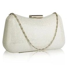 Häälaukut - Julian Korulipas Sissi, Lady, Clutch Bag, Glass Beads, Party Events, Ivory, Silver, Gold, Jewelry
