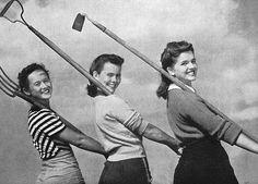 Three hard working WW2 gals. #home_front #1940s #vintage
