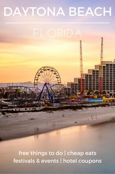 Visit Daytona Beach for a budget-friendly visit to the Sunshine State - Check out the destination guide to Daytona Beach and other major U.S. cities by HotelCoupons.com