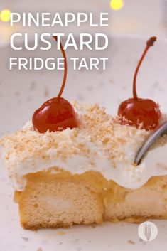 This pineapple custard fridge tart is SUPER EASY to make and even easier to finish in 3 seconds flat! Crushed Pineapple, Toasted Coconut, Party Treats, Pudding Recipes, Custard, Whipped Cream, Fun Desserts, Tarts, Sweet Recipes