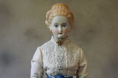 Beautiful Vintage (1960 s) reproduction of the antique Parian China Doll 18""