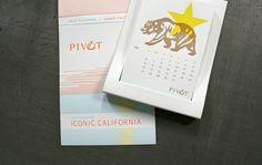 Lisa Knowles for Pivot Interiors  Calendar 2013 letterpress