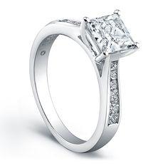 Jeff Cooper Platinum Ladies Engagement Ring