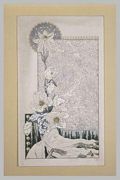 La neige ou l'enfant abandonne , Carlos Schwabe. Born in Germany. Swiss Symbolist Painter (1877 - 1926)