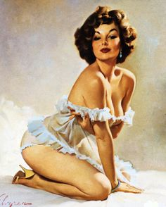gil elvgren | This is Gil Elvgren's original painting of Suzanne. I think I did a ...