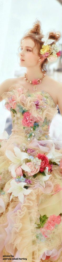 Stella de libero Fairytale Dress, Fairy Dress, Fantasy Dress, Stella Dresses, Prom Dresses, Formal Dresses, Pretty Dresses, Elegant Dresses, Floral Fashion