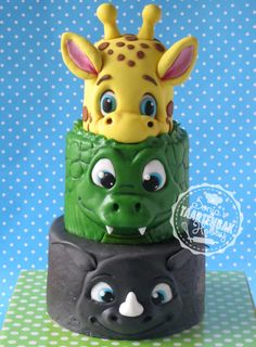Big animals jungle cake... - Cake by sonjashobbybaking