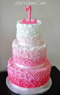 Cake ombre cake beautiful cake wedding cake baby shower pink cake