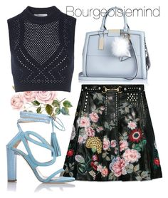 """""""Spring is in full Bloom"""" by bourgeoisiemind on Polyvore featuring River Island, Gucci, Chelsea Paris, T By Alexander Wang, women's clothing, women, female, woman, misses and juniors"""