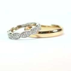 His and Hers Wedding Bands   Diamond Braid Style Eternity Band by dvdiamonds.com