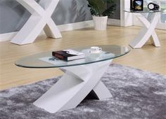 Pervis White Coffee Table Set