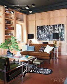 leather floor. Love nate-berkus-interior-design