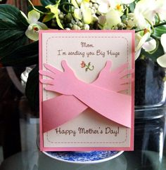 mothers day card- modify this with my   tracings of my 1 year olds arms- If I can get him to hold   still!