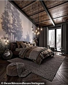 For those looking to make their bedroom look good, adopting a modern bedroom design style isn't actually a bad idea. Here are some easy ways you can redo your bedroom - Home Decor Dark Cozy Bedroom, Bedroom Modern, Bedroom Small, Bedroom Rustic, Contemporary Bedroom Decor, Bedroom Brown, Bedroom Country, Bedroom Romantic, Rustic Bedding