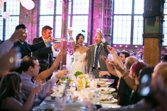Wedding at Steam Whistle Brewery Roundhouse, photo by Sandy Tam Photography. #toronto #wedding #torontowedding #steamwhistle #steamwhistleroundhouse