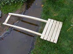Simple Japanese Bridge: 6 Steps (with Pictures) Pond Bridge, Garden Bridge, Landscape Design, Garden Design, Timber Planks, Small Bridge, Wooden Walkways, Bridge Design, Outdoor Living