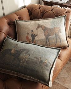 Vintage-Look Horse Pillows
