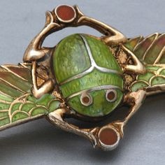Scarab brooch, Art Nouveau, inspired by Egyptian Revival.